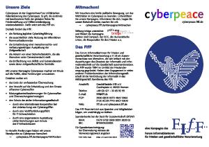 Cyberpeace-Flyer